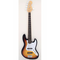 Baixo Custom Jazz Bass 5 Cordas 3ts Sunburst Rw Satin Eb003