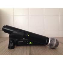 Microfone Shure Sem Fio Blx24br/sm58