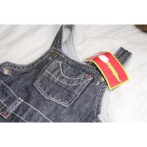 Macacão Jeans Preto Marca Chicco Lindo 9 A 12 Meses