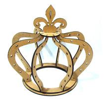 Coroa 3d Em Mdf Princesa Decoração - Enfeite De Mesa Festa