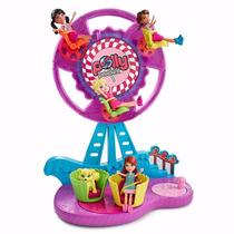 Polly Pocket Roda Gigante Açucarada Brinquedo 2 Em 1