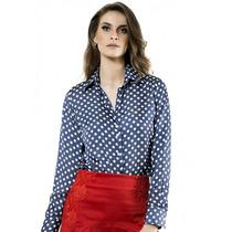 Camisa Feminina Moderna De Poá Principessa Taciana