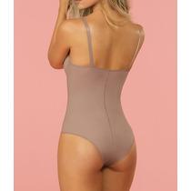 Modelador Cinta Body Maio Bojo Alça Reforçada Abertura Perna