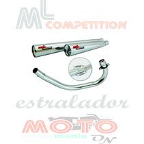 Escapamento Estralador Ml Competition Cg 125 Es Titan 00-04