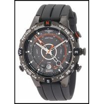 Relógio Timex Borracha Iq Compass, Tide, Temp. T49860wkl/tn