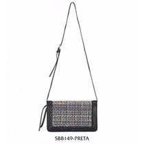 Bolsa Transversal Boy Bag Tweed - Preta - Sbb149-preta