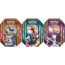Combo 3 Latas Card Game Pokémon Ex Poder Triplo Mewtwo