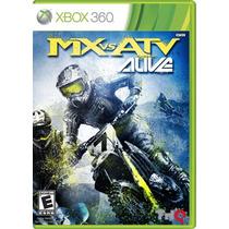 Mx Vs Atv Alive Xbox 360 Mídia Física Lacrado
