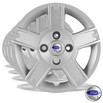 Calota Jogo Aro 14 Fiesta 2008 09 10 11 12 Ford Ka 4pc G014