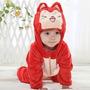 Macacão Bebe Inverno Desenho Importado Ali Fox Frete Gratis