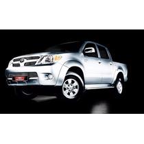 Kit Sobre Grade Cromo Aço Inox Toyota Hilux 2005 ~ 2008