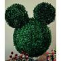 Cabeca Mickey Em Buxinho Enfeite Arranjo Mesa Aniversario