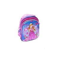 Mochila Escolar Feminina 3d Princesa Corações Rosa 12 Bf Bra