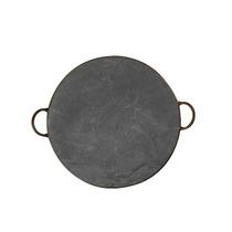 Forma De Pizza Lisa Em Pedra Sabão De 40 Cm