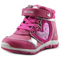 Geox B Shaax Gc Criança Rodada Toe Couro Bota De Pedestrian