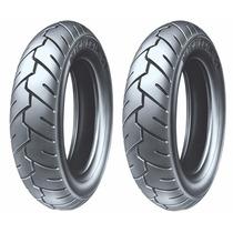 Par De Pneu 350-10 Michelin S1 Burgman 125 Com Frete Grátis