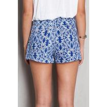 Short Jeans Da Dress To Estampa Azulejo Italia