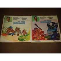 Lp + Livro Silvio Santos Para Crianças Os Tres Porquinhos