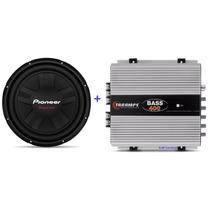 Sub Pioneer Tsw-311d4 Cara Preta + Modulo Taramps T400 Bass