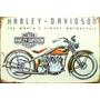 Placa De Ferro Garagem Motos Harley Davidson Indian Retro C