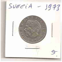 Ml-4341 Moeda Suécia (1 Kr) 24mm 1973