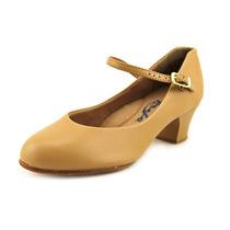 Capezio Sole Jr Footlight Couro Sapatos De Dança De Narrow