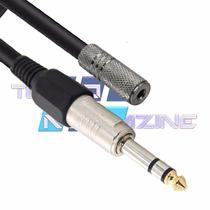 Extensor Extensão P2 P10 10 Mt Retorno Fone De Ouvido Profis