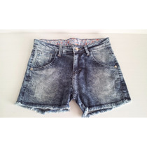 Short Jeans Desfiado Feminino Estonado Curto Customizado