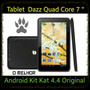 Tablet Dazz Quad Core 7 Android 4.4 Kit Kat Black Smart Pron