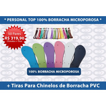 50 Pares Chinelo Personal Top R$ 5,99 Borracha +frete Grátis