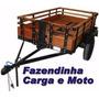 Projeto Carretinha Carga, Reboque, Fazendinha, Moto, Barco