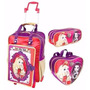 Mochila Infantil Rodinhas Ever After High + Lancheira Estojo
