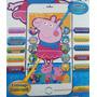 Brinquedo Celular Infantil Iphone Galinha Peppa Led Toque Ce