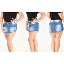 Short Saia Jeans Modela Bum Bum