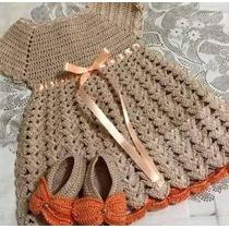 Peças Em Croche Para Bebes, Casaquinhos, Mantas E Vestidos