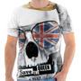 Camiseta Camisa Caveira Bandeira Inglaterra Skull England 07
