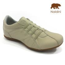 Tênis Conforto Couro Feminino - Naldini - Nt700
