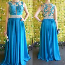 Vestido Azul Tifany Madrinha Ou Formatura