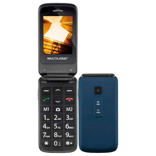 Celular Multilaser Flip Vita P9020, Dual Chip, 2.4, Mp3 32mb