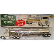 Caminhão Truck Tanque Gasolina Mobil 44 Cm Escala 1/43