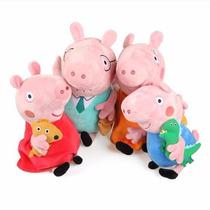 Peppa Pig Família 4 Personagens Antialérgico Pronta Entrega