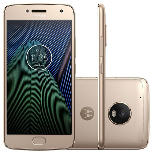 Smartphone Motorola Moto G5 Plus Ouro 5,2 Tv Digital Camera