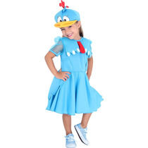 Fantasia Galinha Pintadinha Vestido Luxo Pp (3 Anos)
