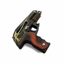 Pistola Para Elástico De Binquedo Em Madeira Mdf