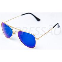 Óculos De Sol Infantil Menino Estilo Aviador