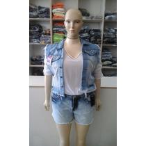 Colete Jeans Plus Size Feminino Tam 44 Ao 52! Apenas 89,99!!