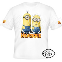 Camisa Camiseta Blusa Personalizada Malvado Favorito Minions