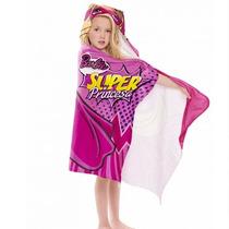 Toalha Infantil C/capuz Barbie Super Princesa. Frete Grátis