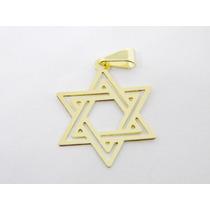 Pingente Estrela De Davi Pequeno Folheado Ouro 18k Semijoia