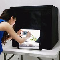 Mini Estudio Fotografico Tenda Portatil Fundo Infinito 60x60